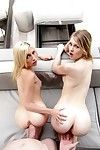 Hot girlfriends lily rader and piper perri fucked in teen threes