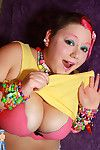 Hot young raver babe in all directions enormous boobies