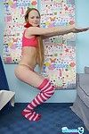 Cute nineteen year old teen doing backbend