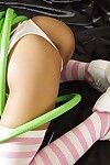 Thai teen girl playing