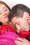 Hot naughty teen facetiously with a venal old man