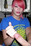 Hot emo teen girlfriend abby giving cfnm handjob