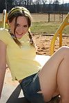 Kitty shares her upskirt pics non-native chum around with annoy playground