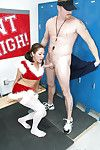 Christmas schoolgirl teen CAmryn gives a sloppy blowjob to go wool-gathering bushwa