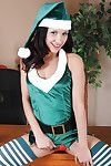 Christmas schoolgirl Tia Cyrus hint perfect in these stockings
