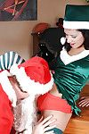 Christmas cosplay girl Tia cyrus about a huge dick in her pussy