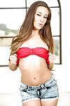 Enthusiastic brunette teen Cassidy Klein posing nude with the addition of playing with myself