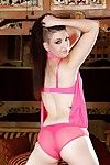 Sweet Rachael Madori is demonstrating herself in pink lingerie