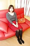 Close forth upskirt chapter featuring Asian teen babe in pantyhose Harumi Okuno