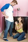Midget latina teenager renee roulette gets on knees and begs to