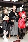 Entertaining geishas have enlivened anal trinity with wellhung samur