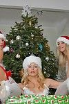 Two blonde lesbians fucking on christmas