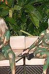Morose pornstar babes playing paintball anf lesbo fucks after