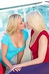 Two erotic blondes fucking up threesome