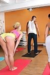 Euro coition party goinh in hottest yoga class