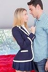 Sexy schoolgirls natalia starr takes cock in encompassing holes