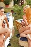Young ladies loving outdoor sex parties
