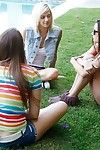 Sexual teen girls trample each other