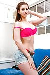 Beautiful teen babe Stella Cox flaunting perfect young girl tits