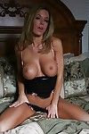 Hot babe in lingerie Faith Taylor revealing her big tits and inviting cunt