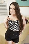 Sensuous piece of baggage with sexy ass getting nude with an increment of spreading the brush fingertips