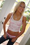 Amateur steady old-fashioned Kacey Jordan gets naked to show her youthful body
