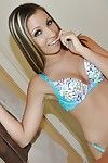 Amateur girlfriend Sasha Hall posing in cute lingerie solo