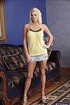 Seductive bazaar babe Jessica Nyx brigandage off her clothes