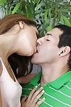 Great undressing scene features teen girlfriend Sara Luv plus her bf