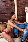 Clouded Cherry Hilson is bringing off with her friend\'s hard prick!