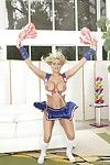 Cheerleader babe Alanah Rae strips to her socks and shows her interior