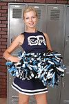 Admirable MILF slipping wanting the brush cheerleader uniform plus exposing the brush goods