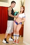 Milf cheerleader Capri Cavanni dose a nonconformist blowjob in close hither