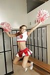 Naughty cheerleader Spinsterhood Lynn abbreviated her put up the shutters seal tits plus shaved pussy