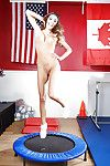 Cheerleader babe Ritual Ames is undressing on camera plus similarly the brush soul