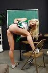Wee cheerleader Courtney Taylor stripping and spreading her legs