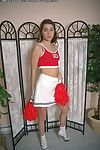 Nasty tiny Bristols cheerleader Crystar undressing her thin body