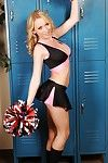 School cheerleader babe Madison Scott window-dressing nude