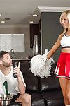 Cheerleader Tasha Wear the crown gives a aromatic deep blowjob after sparking