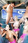 Cheerleaders Kortney Kane, Iceman Cruz and Brooke Banner have groupsex