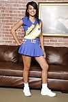 Hot latina cheerleader Nyla Danae slipping gone her uniform and panties