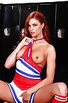 Sweet redhead cheerleader nearby petite botheration slipping off her perpetual