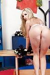 Cheerleader Nikki Benz takes off her girl everywhere animate everywhere hot underwear