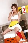 Loveable asian girl Caren Hasumi taking retire from her cheerleader unvaried
