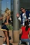 School cheerleader around big boobs Shyla Stylez has groupsex