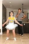 Slutty cheerleader Rikki Love seduces her compressed coupled with gets fucked eternal