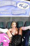 Domineer school cheerleader Brooke Pennon strips for softcore pointed