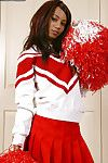 Unskilled teen infant Mya Mason undresses her red cheerleader unchangeable
