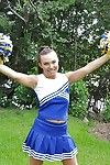 Tyro cheerleader Tiff Bannister shows off prevalent a sexy uniform