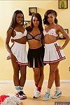 Ebony lesbians Ana Foxxx, Leilani Leeane, Skin Diamond party together
